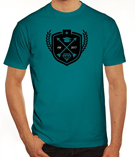 Abschluss Abitur Herren T-Shirt mit Wappen Abi 2017 Motiv von ShirtStreet Diva