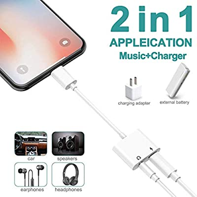 Headphone Adapter AUX Audio Headset Accessorize [ Charge and Music ]