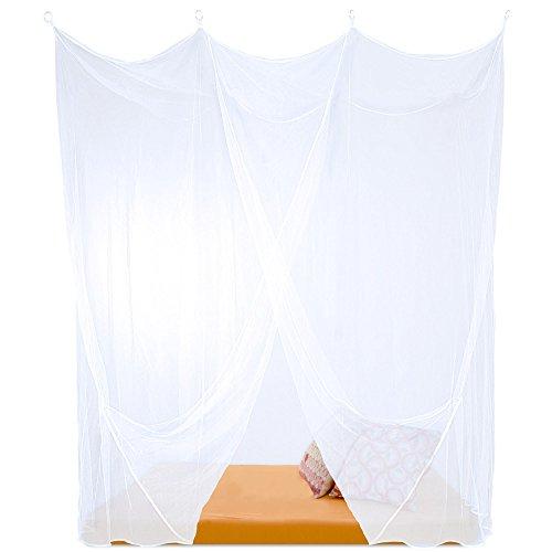 CelinaSun Sumkito Moskitonetz, Einzelbett Mückennetz, eckiger Bettvorhang 1 Eingang, Insektenschutz weiß 1000466