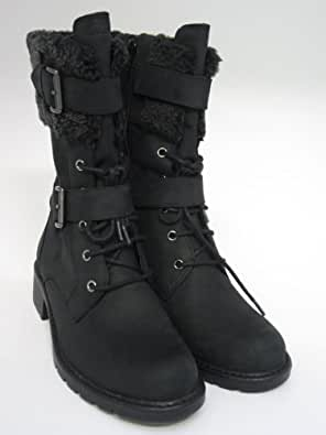 Clarks Womens Casual Clarks Orinoco Prize Nubuck Boots In Black Standard Fit Size 9