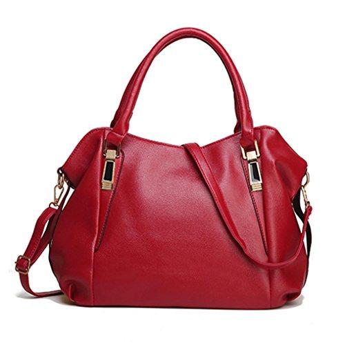 Tasche, Voberry Luxus Frauen hand Taschen Ledertaschen große Kapazität weiblichen Schultertasche Rot