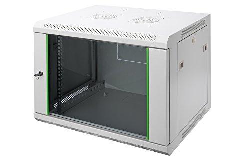 DIGITUS Professional 7HE Netzwerk Wandschrank - Wandgehäuse Dynamic Basic in der Farbe Grau aus robustem Stahlblech