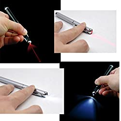 WAVE SHOP 4-in-1 Touchscreen Stylus, Ballpoint Pen, Laser Pointer and LED Light