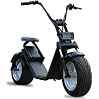 Moto electrica Scooter de 1200w bateria 60v 12Ah Patinete Bici Chopper City Coco