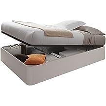 Habitdesign 006077MO - Canapé + somier, Cama elevable Kendra, Color Alpes, válido para