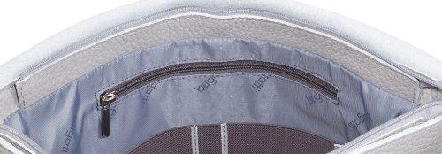 Bugatti Bags Borsa Messenger Kim Messenger Bag, Querformat groß,  grigio – Grau (hellgrau 44), 496688 Grau (hellgrau 44)