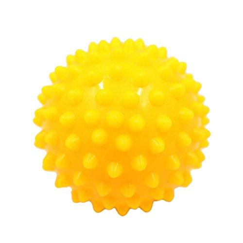 MagiDeal Selbstmassage Massagegebälle Igelball Massageball Reflexzonen Massage Kugel - Gelb