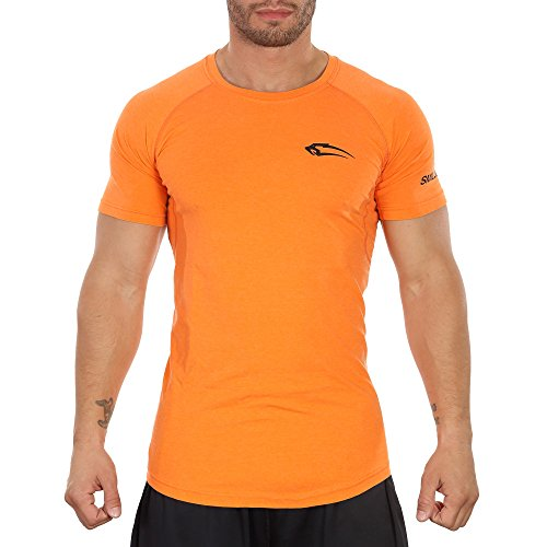 Smilodox Herren Slim Fit T-Shirt 2.0 Orange