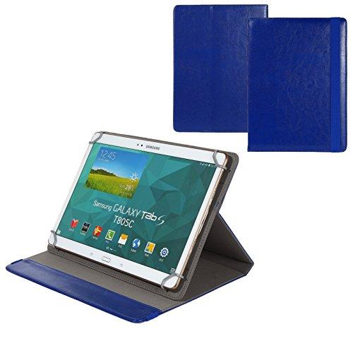 BRALEXX Universal 10 Zoll Tablet Tasche passend für Blaupunkt ENDEAVOUR 1000 QC, Blau