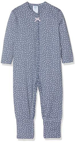 Sanetta Baby-Mädchen Overall Long Schlafstrampler, Blau (New Jeans 5828.0), 80