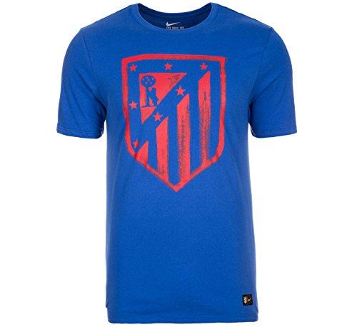 Nike Atlético de Madrid Crest tee YTH Camiseta de Manga Corta, Niños, Azul Game Royal, XL