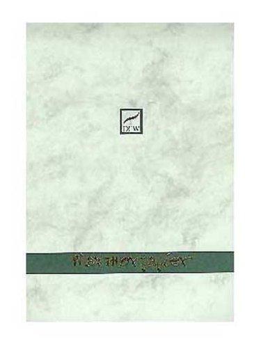 Dresdner Feinpapier 880103 - Briefblock A4 40 Blatt grün marmoriert