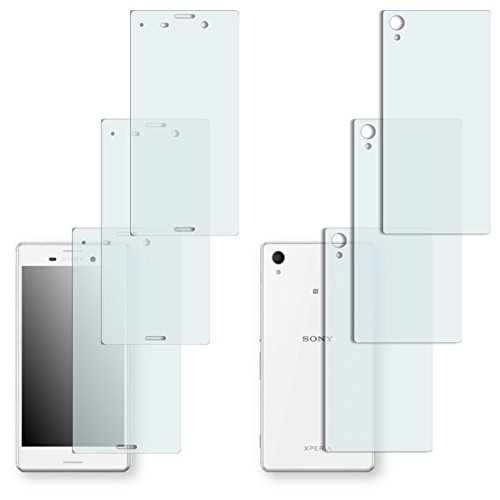 6 x Golebo Displayschutzfolie für Sony Xperia M4 Aqua Vorder + Rückseite Displayschutz Schutzfolie Folie