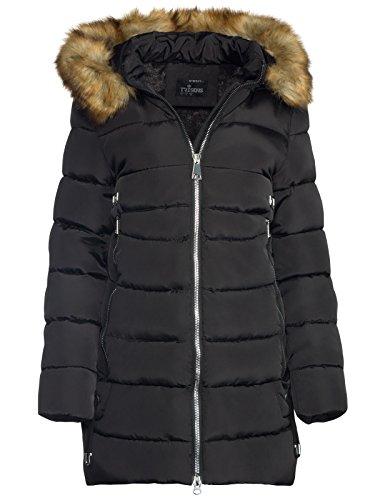 Parka para mujer de invierno de TRISENS con capucha acolchada.