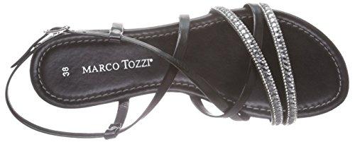 Marco Tozzi 28187, Sandales ouvertes femme Noir - Schwarz (BLACK COMB 098)