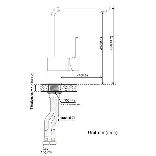 Auralum – Elegante 360° schwenkbare Küchenarmatur, Chrom - 8