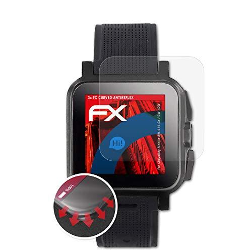 atFoliX Schutzfolie passend für Simvalley-Mobile AW-414.Go/GW-420 Folie, entspiegelnde & Flexible FX Bildschirmschutzfolie (3X)