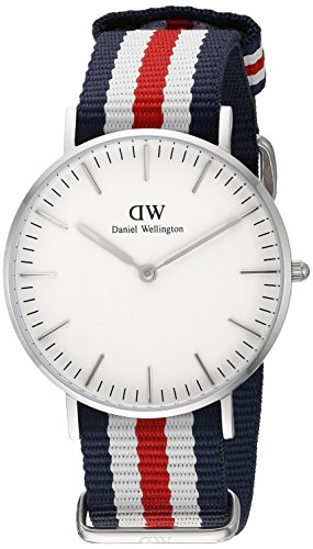 Daniel Wellington Damen-Armbanduhr Canterbury Analog Quarz Nylon DW00100051