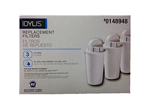 idylis Wasser Krug Ersatz Filter 3Stück