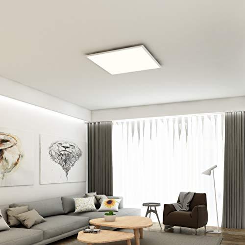 Briloner Leuchten: Briloner Leuchten - LED Deckenleuchte-Panel, LED-Lampe,  Wohnzimmer-Lampe, Deckenlampe, Deckenstrahler, 38W, quadratisch, weiß, ...