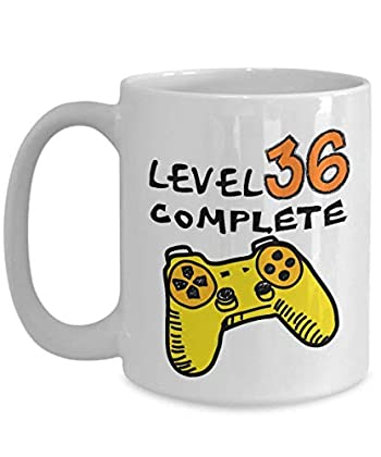 36th Birthday Mugs for Men Funny 11 Oz - Level ...