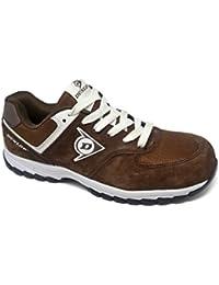 Dunlop DL0201027-45 Zapato, Piel de Ante y Mesh, Marrón, 45