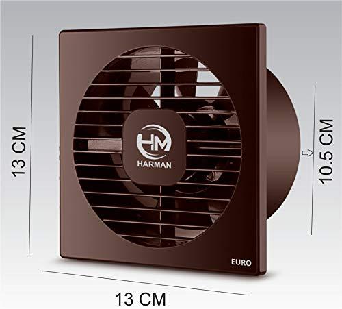 HARMAN INDUSTRIES Euro-4 AXAIL Ventilation/Exhaust Fan (4-inch/100 mm, Brown)
