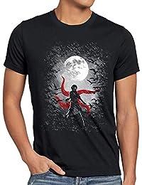 b027920f9 style3 Kaneki Night Camiseta para Hombre T-Shirt Tokyo Anime Manga