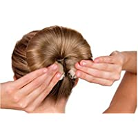 2 anillos de pelo con forma de donut para moño, para hacer rizos, para hacer espuma, peinado, para hacer nudos.