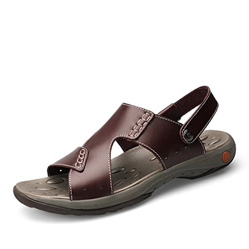 Men's Genuine Leather Luxury Zapatos Sandals brown