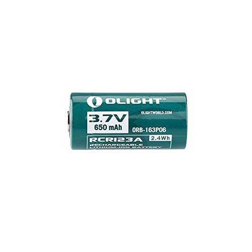 Olight® 16340 RCR123A Akkus Lithium-ion wiederaufladbar Batterie 3.7V 650mAh - 2-er Pack (original und geschützt) - 4