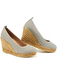 elige el más nuevo donde puedo comprar seleccione original Amazon.es: zapatos cerrados cuña de mujer - 41 / Alpargatas ...