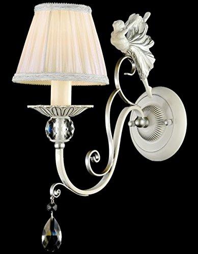 Casa Padrino Barock Figuren Kristall Wandleuchte Silber 14 x H 35 cm Antik Stil - Wandlampe Wand...