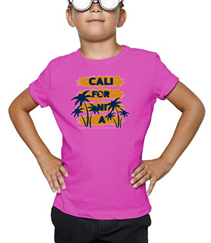 Billion Group | California Venice Beach | City Collection | Boys Classic Crew Neck T-Shirt Pink