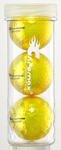 Chromax Golfbälle M1X, Orange, 3 Stück, M1X Golf Balls 3 Pack -Gold, Gold (Bridgestone Golfbälle Orange)