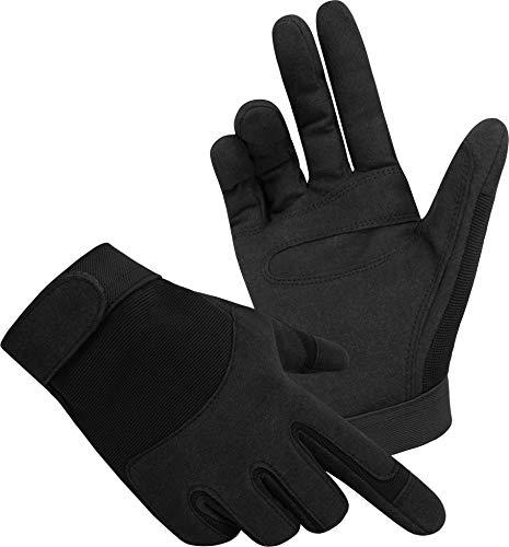 normani Tactical Army Gloves Herrenhandschuhe aus Spezialkunstleder Farbe Schwarz Größe XL