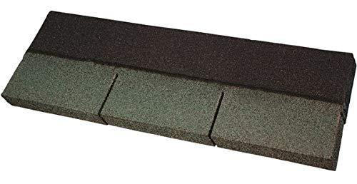 Easy Shingle® Bitumen-Rechteckschindel - grün 2 m² - Eindeckung von geneigten Dächern wie z. B. bei Gartenlauben, Pavillons, Carports, Ferienhäusern und Wohnhäusern.