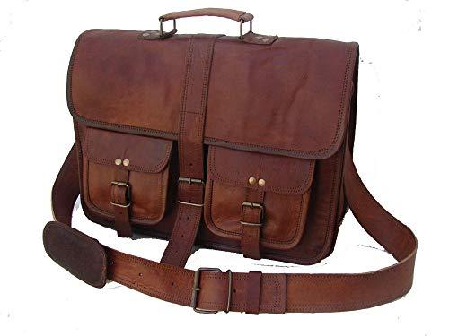 Vintage weiche Leder Messenger 16 Zoll handgemachte Tasche für Laptop Aktentasche beste Computer Schulranzen Schule Distressed Bag