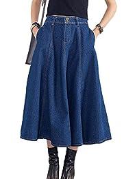 più recente 61ac4 58ea0 Amazon.it: gonna lunga - Blu / Donna: Abbigliamento
