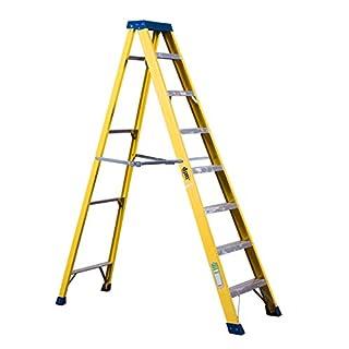 DJM Direct Electricians Heavy Duty Tread EN131 Fibreglass Step Ladder 30000v - 8 Tread
