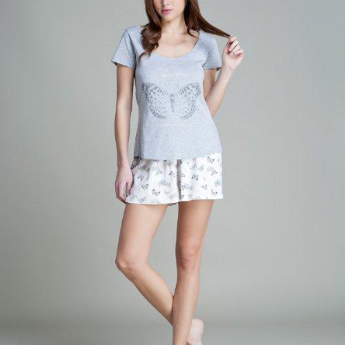 women'secret - Pijama corto de algodón Gris