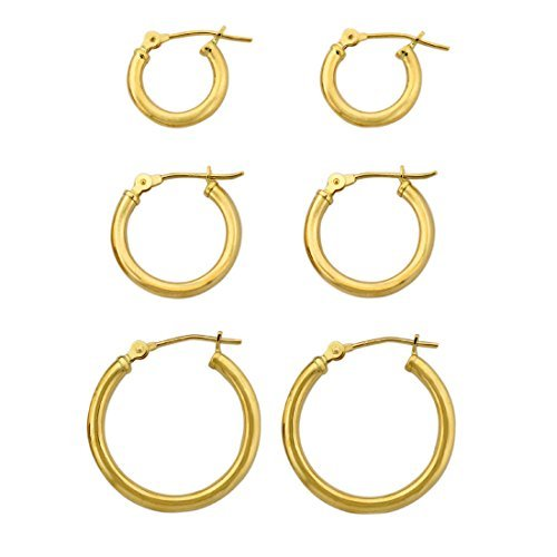 3-pairs-10k-yellow-gold-polished-tube-clip-hoop-earrings-set-by-styles-by-breezy