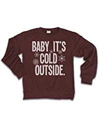 Baby It's Cold Outside Para Hombre y Mujeres Unisexo Loose Fit Christmas Sweater Suéter