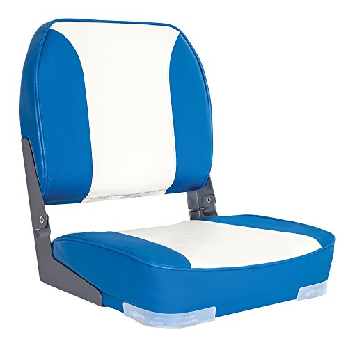 Oceansouth Deluxe Folding Boat Seat (Blue/White)