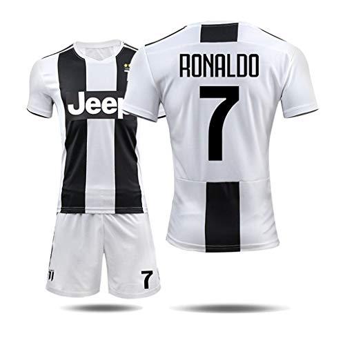 Fyj- Fußballuniform SportErwachsene KinderTraining Sportbekleidung Schnelltrocknende Kleidung 2018-2029 Juventus T-Shirt Cristiano Ronaldo # 7 (Size : XXL) -