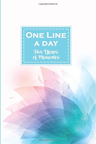 One Line a Day: Five Years of Memories: Beautiful Digital Flower, A Five Year Memoir, 6x9 Dated and Lined Diary por Panda Studio