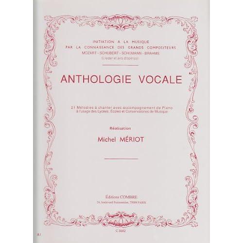 Anthologie vocale 21, Mélodies à chanter avec accompagnement de piano