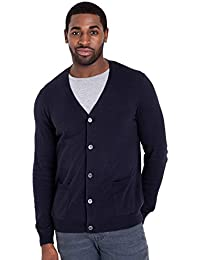 WoolOvers Cardigan à col V - Homme - Cachemire & Coton