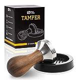 NextCoffee Premium Espresso Tamper Set 51mm - Kaffeestampfer aus Edelstahl mit Einem elegant geformten Echtholzgriff – Espresso Stempel für den vollmundigen Genuss - Passende Tampermatte inklusive!