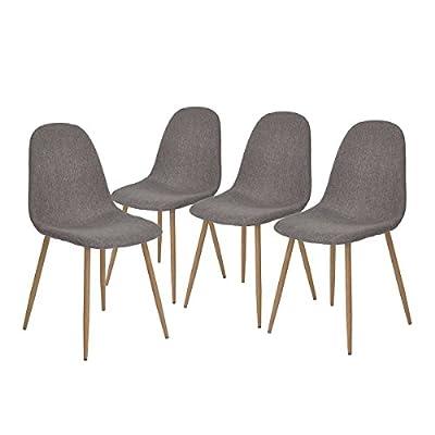 Aingoo Set of 4 dining Chairs CHARLTON - cheap UK light store.